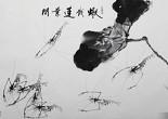 大陸軍旅書畫藝術家林海城普寧辦展 數十年癡迷畫蝦成名