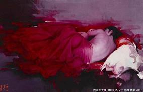 台灣藝術家梁君午西洋油畫作品:浪漫的午後