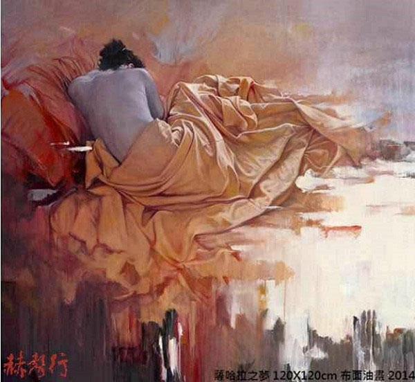 梁君午西洋油畫作品:薩哈拉之夢