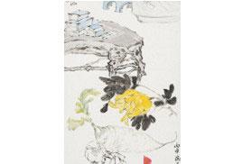 朱宗明國畫作品《福壽有餘》