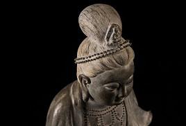 文殊菩薩佛像(茶葉沫中國瓷器)藝術品