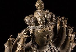 「十八手觀音佛像」中國瓷器藝術品