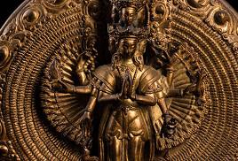 銅鎏金千手千眼觀世音菩薩佛像