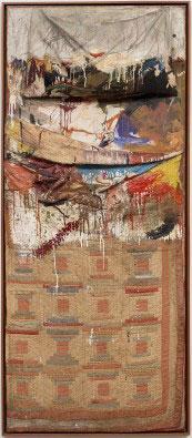 羅伯特。勞森伯格1955年的作品《Bed》