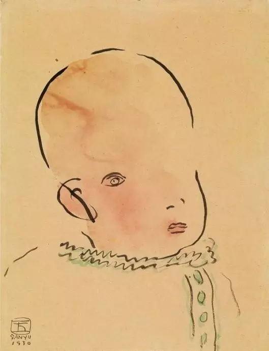 常玉作品15《嬰孩》