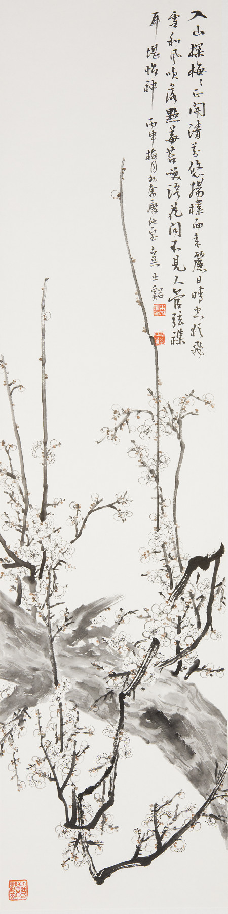 朱宗明國畫作品《清芬悠揚》136×34cm (4.1平尺)