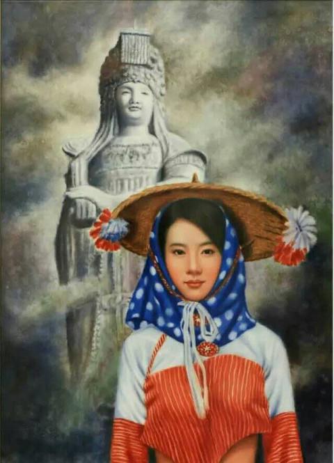 趙國學 陶瓷板釉上新彩作品-佑