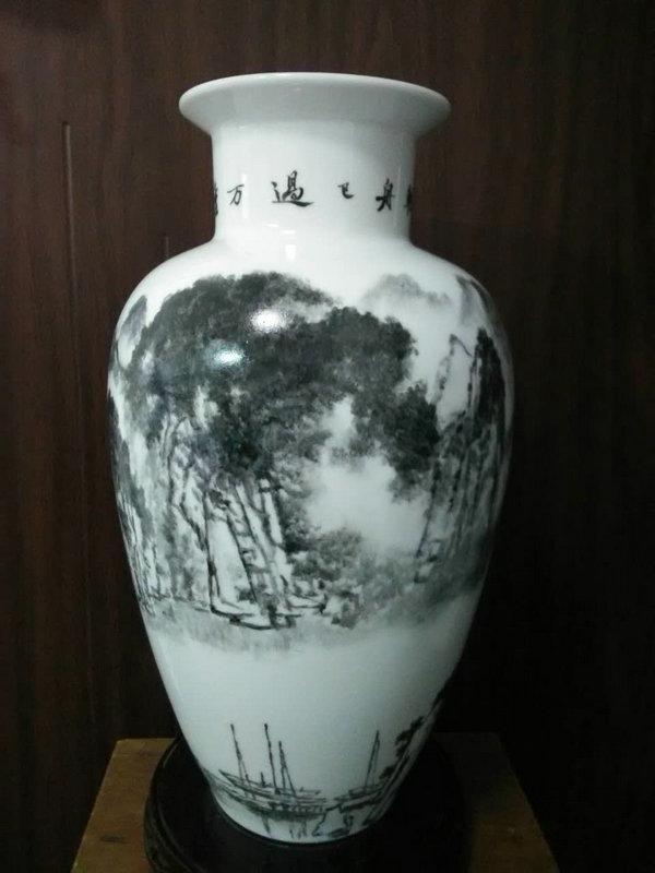 趙國學瓷器花瓶作品104