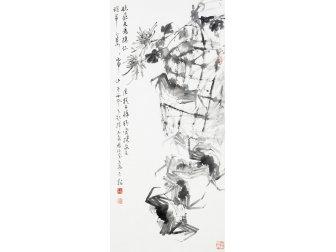 朱宗明國畫作品《爽秋佳饈》