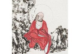 朱宗明中國人物畫作品《東坡十八羅漢頌》