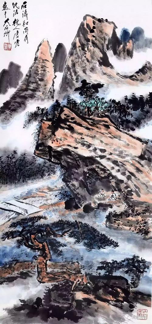 2017尚敷爾雅書畫藝術品拍賣會:唐云《擬石濤大意》