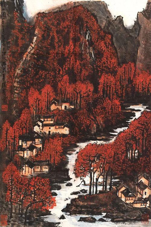 李可染秋山圖/1963年