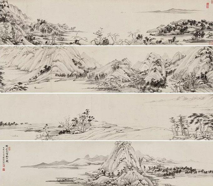吳湖帆臨富春山居圖卷/1935年