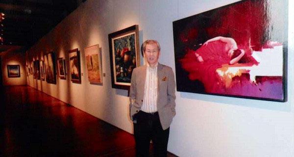 國際知名藝術家梁君午大師於赫聲行藝術現場