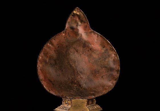 銅鎏金千手千眼觀世音菩薩佛像-底部