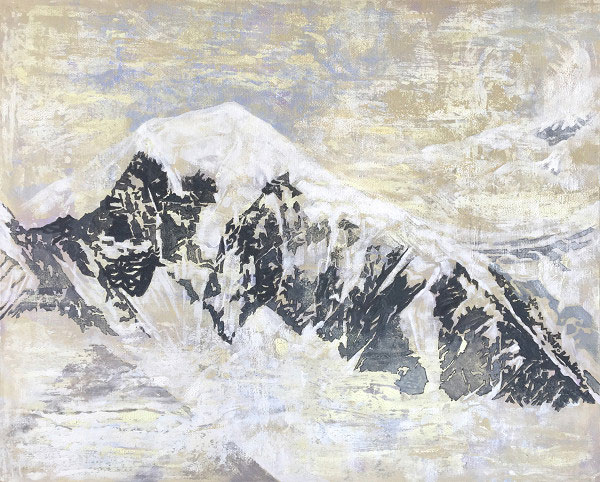 楊光邁「雪山系列NO.1」65X81cm/2017年