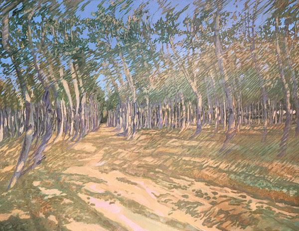 楊光邁「扭曲的樹林」60X80cm/2017年