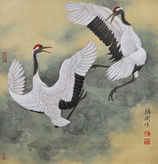楊德衡|飛舞|42x42cm 2018年