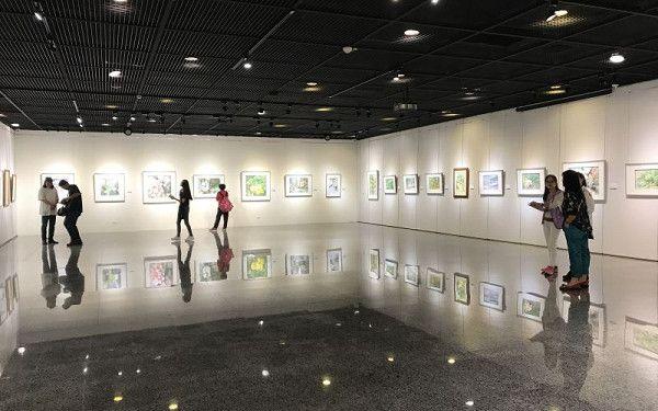 林世輝水彩創作展,在彰化生活美學館展出