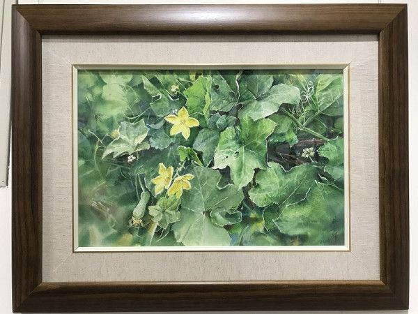 林世輝水彩創作展作品:午後的絲瓜花