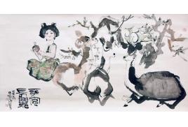 上海朵雲軒拍賣120週年藏品特展程十發《平安長樂圖》