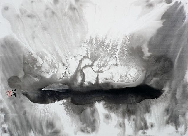 中國大陸畫家劉以通水墨幻象藝術作品2013|103x76cm