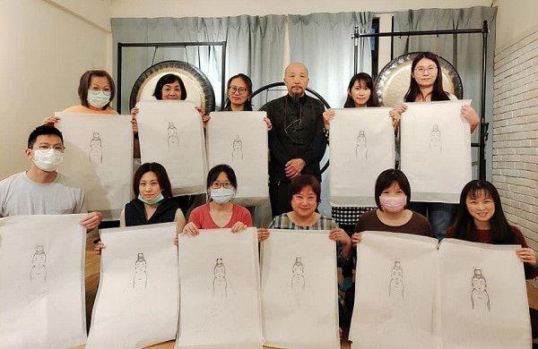 7佛畫大師廖湘靈教授佛畫