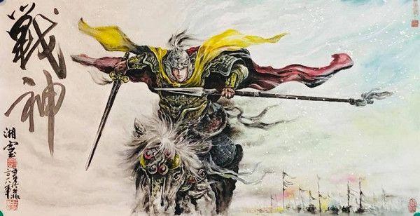 1台灣佛畫藝術家廖湘靈作品:戰神